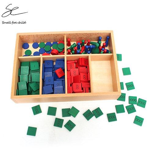 NEW Baby Toy Montessori Stamp Game Math
