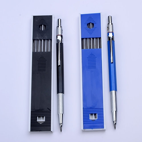 Best Promotion 2.0 Mm 2B Lead Holder Metal Mechanical Pencil With 12 Pc