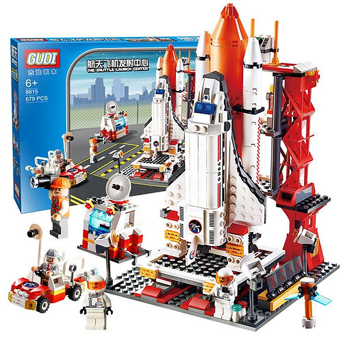 New City Spaceport Space the Shuttle Launch Center 679Pcs