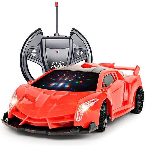 4 Channels 22cm  RC Car Toy Led Light Electric Robot Sports Car
