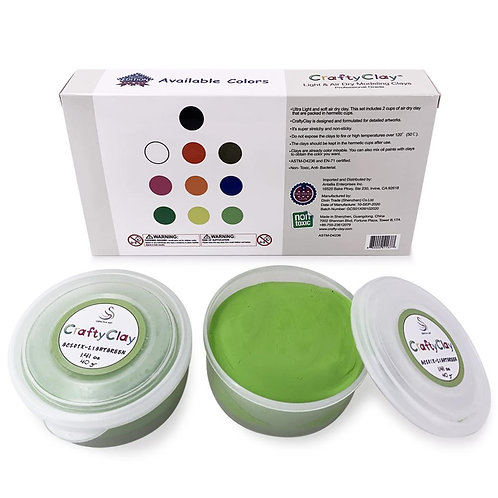 GCS01X-LIGHT GREEN REFILL Air Dry Clays by CRAFTYCLAY