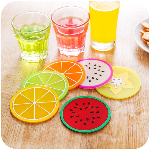 24 Pcs/Lot Silicone Fruit Cup Placement Table Pad