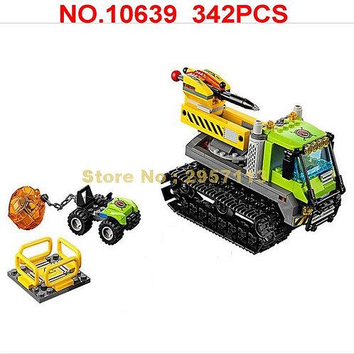 342pcs Urban Volcano Crawler Geological Prospecting 3  Building Block  Toy