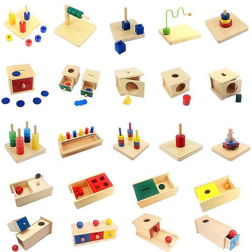 Montessori Sensory Toys Imbucare Box