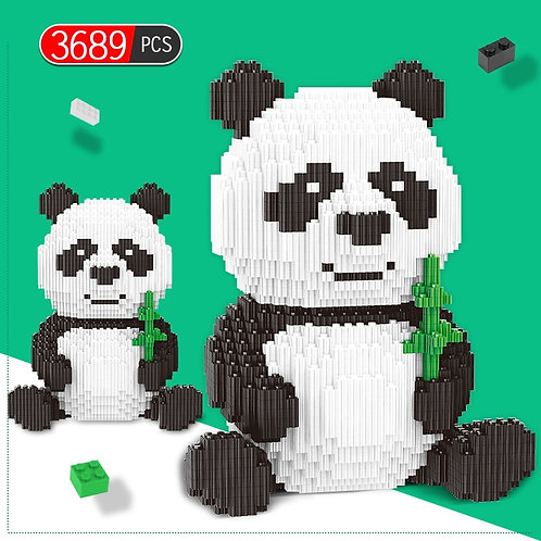 3689pcs Creator DIY Assemble Panda Mini Blocks