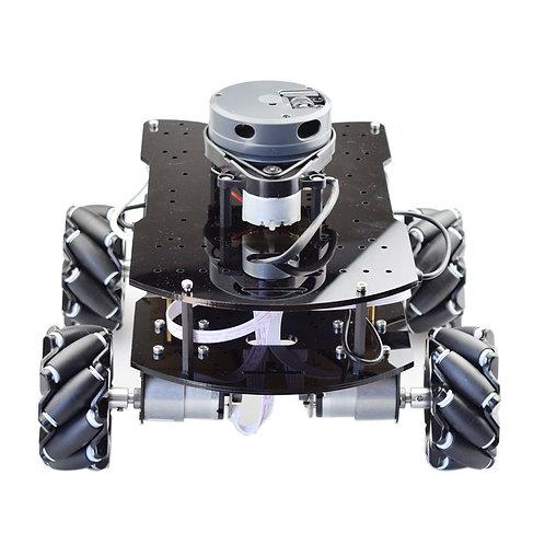 ROS SLAM Robot Mecanum Wheel Car Chassis With Lidar  DC 12V Motor DIY