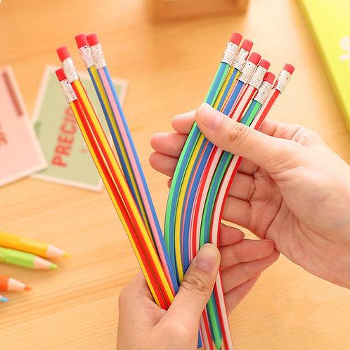 5 Pcs/Lot Colorful Magic Bendy Flexible Soft Pencil