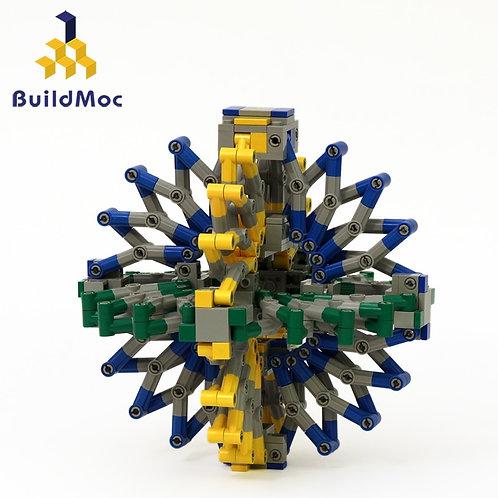 BuildMOC Tensegrity Sculptures Hoberman Sphere