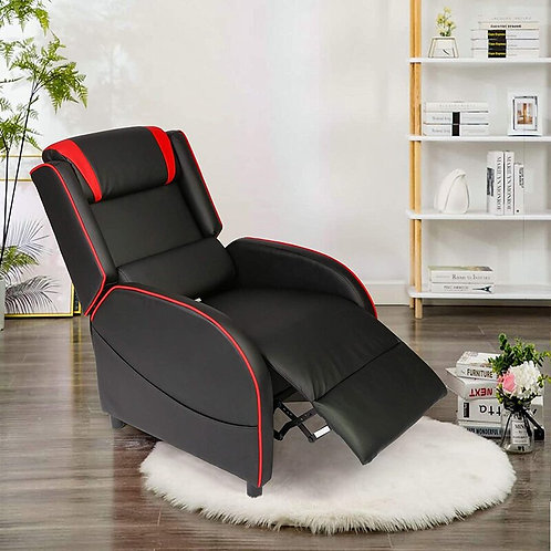 Racing Recliner Chair PU Leather Adjustable Gaming Style Seating Recliner