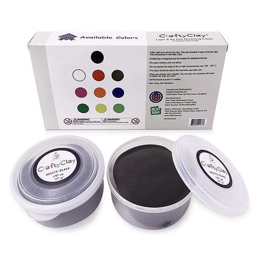 GCS01X-BLACK REFILL Air Dry Clays by CRAFTYCLAY