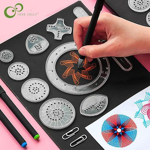 Spirograph Drawing Toys Set Interlocking Gears  GYH