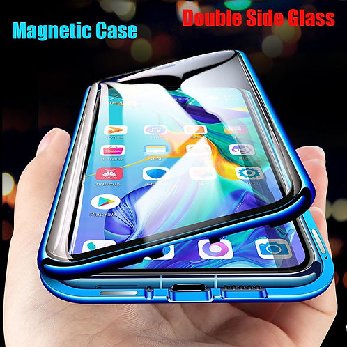 Magnetic Double Sided Glass Case for Samsung Galaxy
