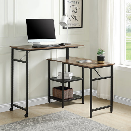 Home Office Furnitures L Shaped Computer Desk Industrial 360