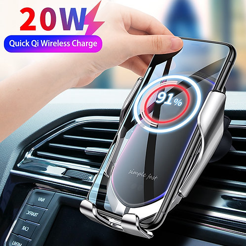 Automatic Clamping 20W Car Wireless Charger