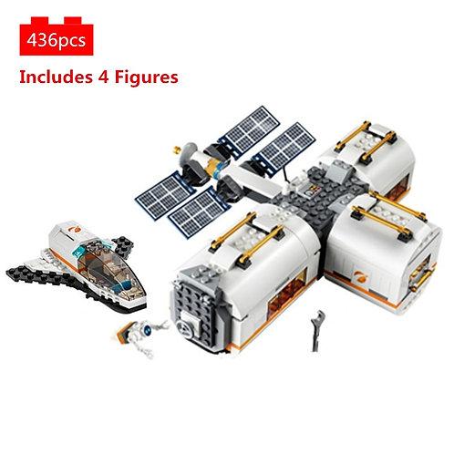 City Lunar Space Station Shuttle Building Blocks Kit