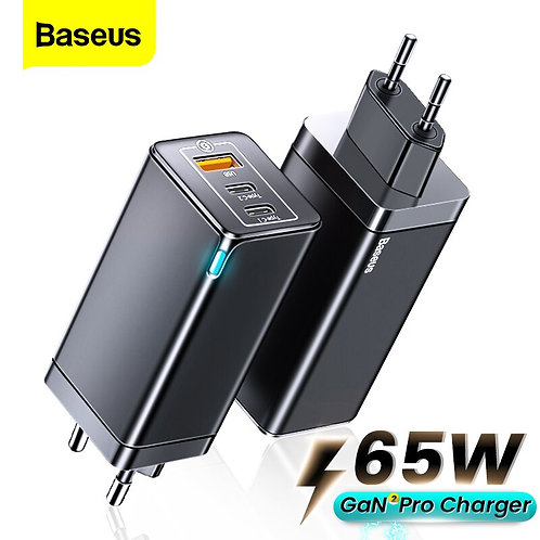 Pro 65W USB C Charger PD Quick Charge 4.0 QC3.0 Type C Fast Charging Charger