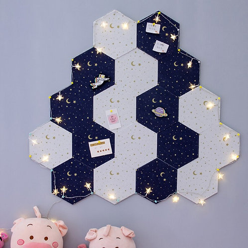7Pcs 3D Hexagon Moon Star Felt Board