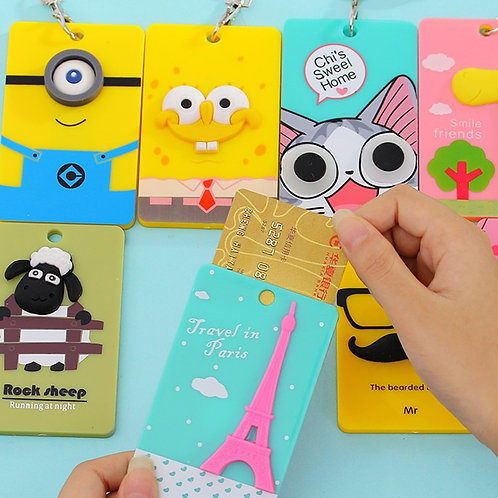 Cartoon PVC Card Holder Accessories KT5