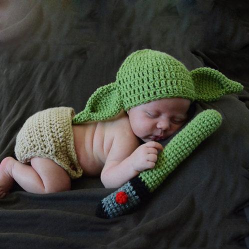 Baby Yoda Handmade Hat Beanie Newborn