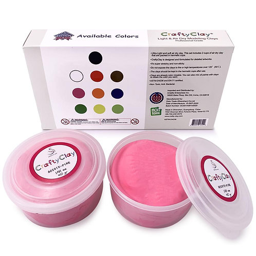 GCS01X-PINK REFILL Air Dry Clays by CRAFTYCLAY