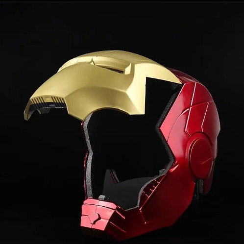 Marvel Avengers Iron Man Helmet Cosplay 1:1 Light Led