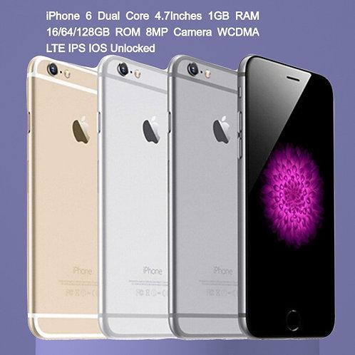 100% Original Apple iPhone 6 Dual Core 4.7Inches 1GB RAM 16/64/128gb ROM
