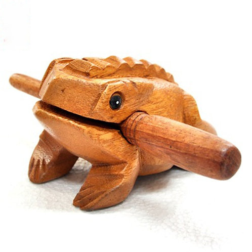 1 Set Wooden Frog Traditional Musical