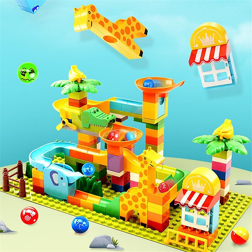 Building Blocks Compatible With Duplo Rolling Ball Maze