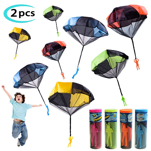2pcs Hand Throw Soldier Parachute Toys
