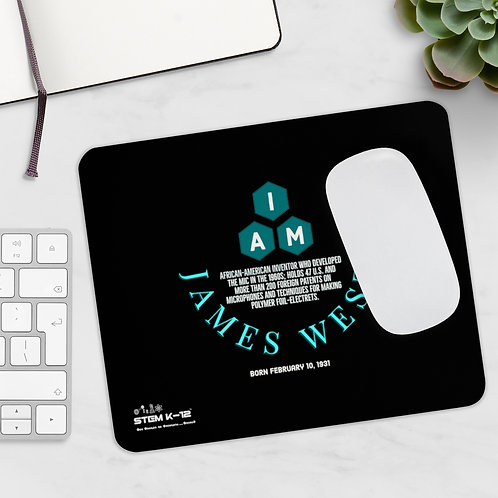I AM James West Mousepad