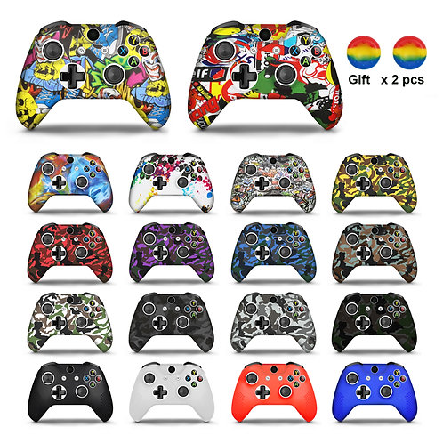 For Xbox One X S Controller Gamepad Camo Silicone Cover