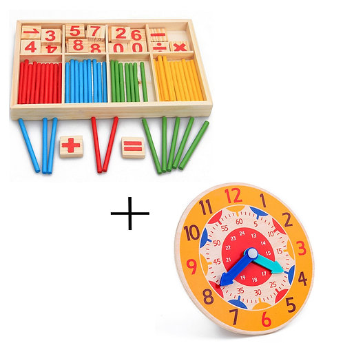Baby Number Counting Math Toys Children Early Montessori