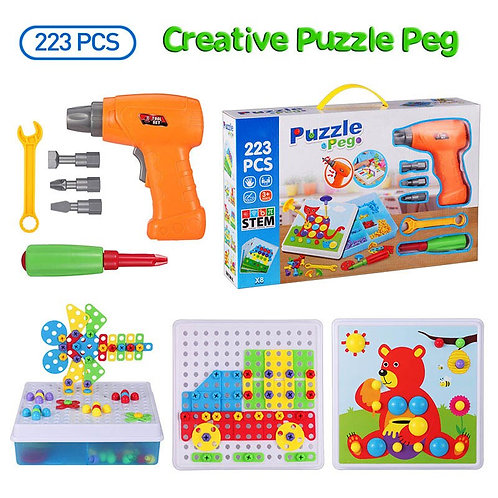 223Pcs Drill Screw Group Toys Kit Nut Disassembly