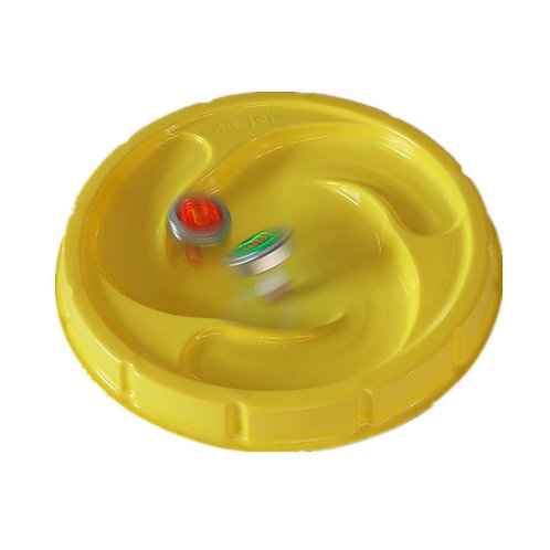 2pcs Yellow Arena Disk for Beyblad Burst Gyro Exciting Duel Spinning Top Stadium
