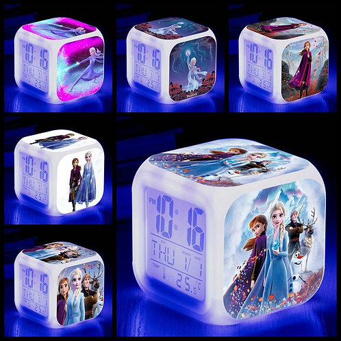 Disney 2019 NEW Movie Frozen 2  LED Clock Kids Cartoon Toy