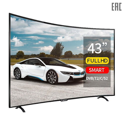 Tv 43 Inch Smart TV Curved Screen Android 7.0 Digital Tv