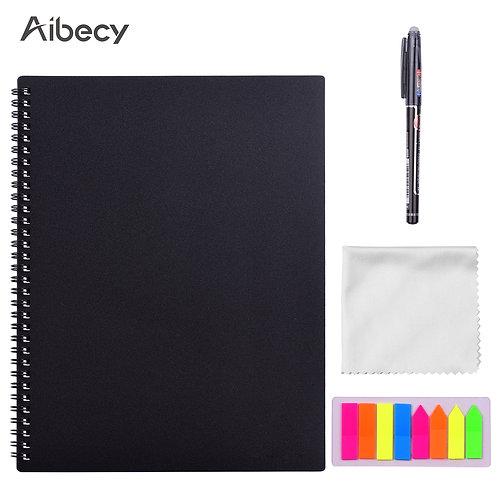 Aibecy Erasable Reusable Smart Hardcover Note Book Wet Hot Erase A4 Size 20 sht