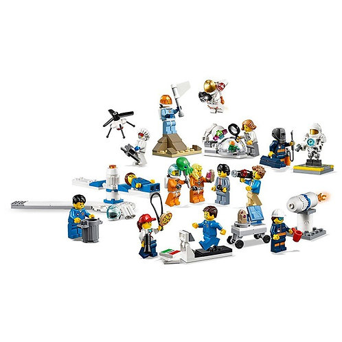New 11384 293pcs City Space Port 60230 People Pack