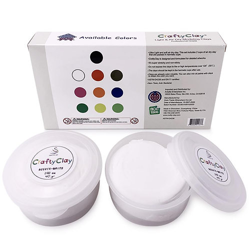 GCS01X-WHITE REFILL Air Dry Clays by CRAFTYCLAY
