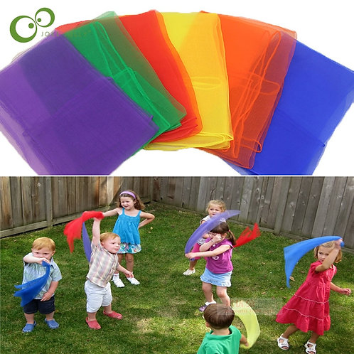 HOT 6 Colors Children Gymnastics Scarves for Outdoor Game