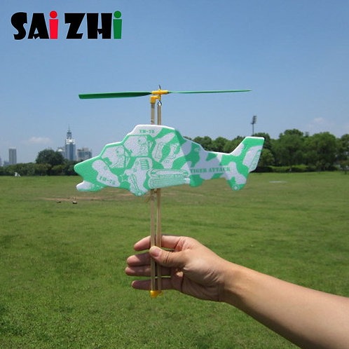 Saizhi Model Diy Elastic Powered Helicopter