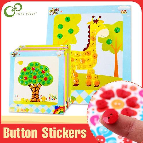 4Pcs/1Pcs Button Puzzle Stickers