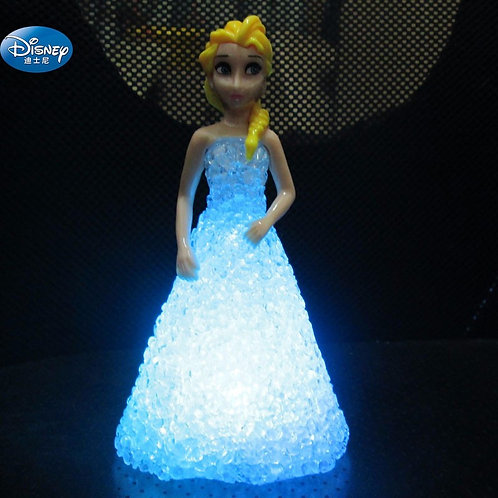 Character Crystal Doll With LED Light  Girl Anna Toy Figures