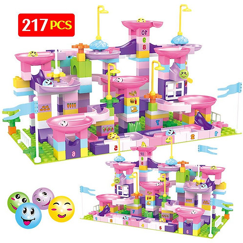217Pcs Creative Marble Race