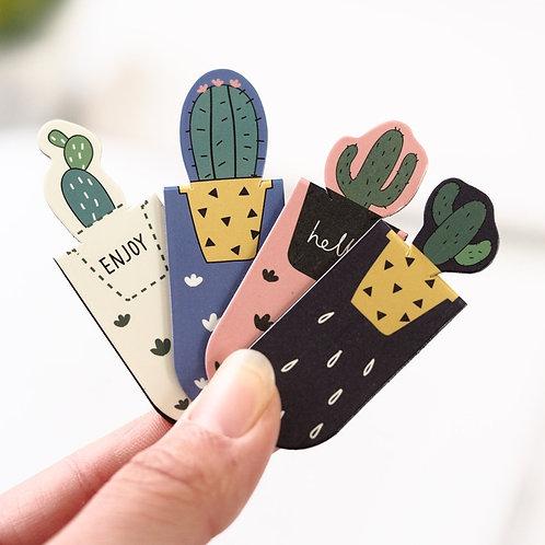 1 Set Fresh Cactus Sakura Unicorn Magnetic book marks