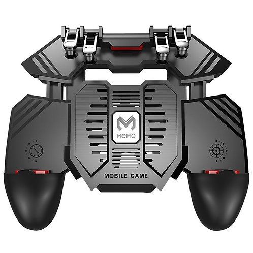 AK77 Six Finger All-In-One Mobile Game Controller PUBG With Dual Fan for PUBG
