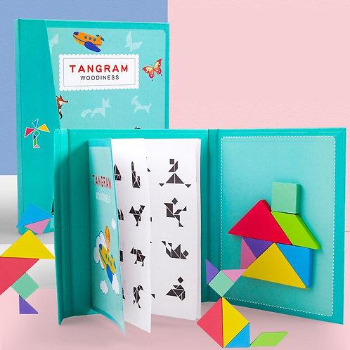 Tangram Game Magnetic Puzzle Montessori