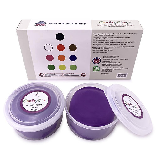 GCS01X-PURPLE REFILL Air Dry Clays by CRAFTYCLAY
