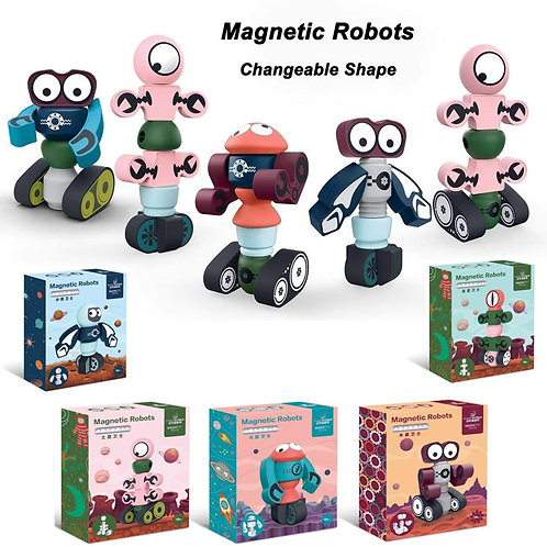 35pcs Magnetic Robots Magnetic Blocks