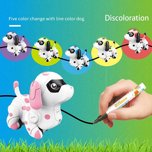 Follow Any Drawn Line Cute Colors Changing Smart Animals